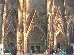 Cologne Dom - Construction began in 1248 and continued until the 1500s.  Construction was completed in 1880, and today it is known as one of Europe's top Gothic cathedrals.