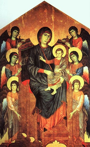 Cimabue: Madonna and Child (1100's AD)