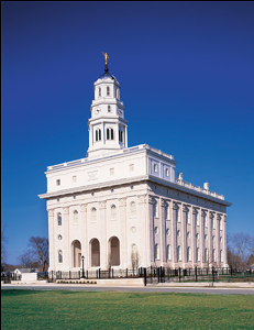 Nauvoo, Illinois.  The Nauvoo temple was desecrated and then destroyed after the martydom of the Prophet Joseph Smith... and has just recently been rebuilt and restored to its original specifications - as a symbol of our faith...