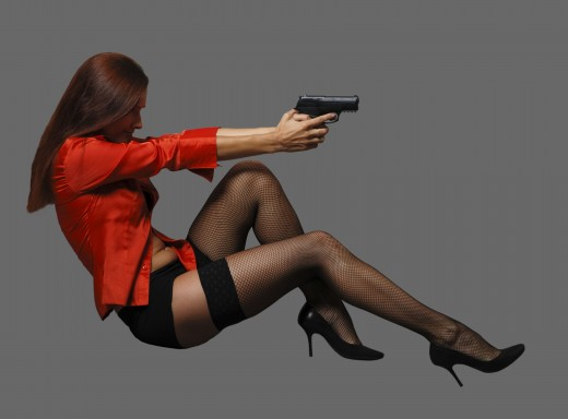 Femme Fatale Look - Great but Drop the Pistol!
