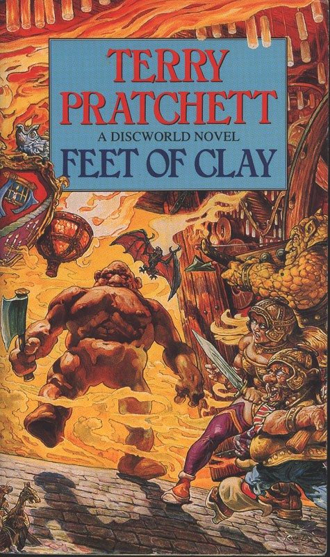 Feet of Clay sees the return of the City Watch as a Golem rampages around the city.