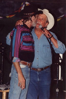 """The late, great Rusty Wier on the left and Steven Fromholz on the right - in their very early """"Outlaw"""" days."""