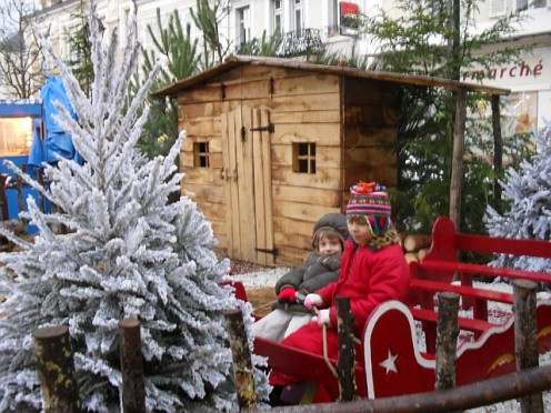 Christmas decorations in Argenton Sur Creuse