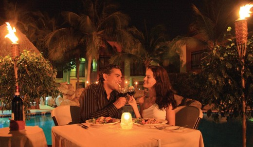 A romantic dinner for two is the ideal venue for an intimate evening