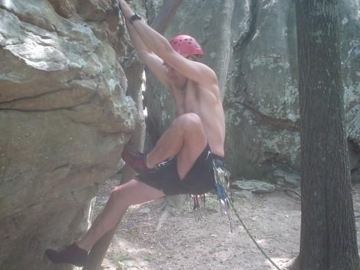 Dave Climbs at Sandrock
