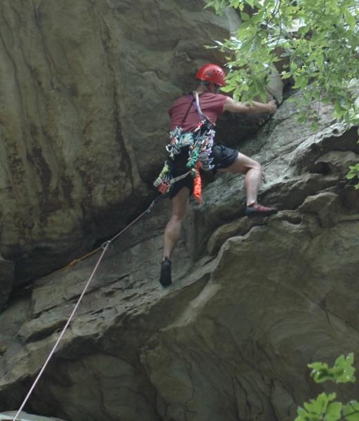 Dave Climbs at Palisades
