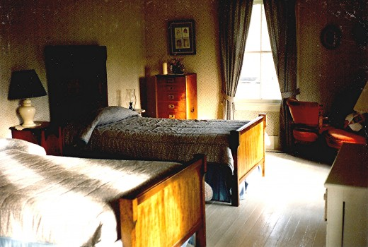 Downstair's bedroom in the Langtry house
