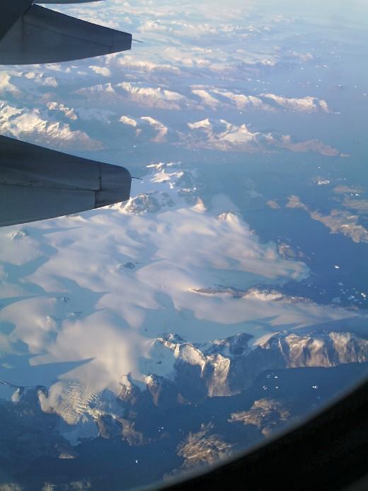 2006, Greenland at 40,000 feet, Budget digital camera.