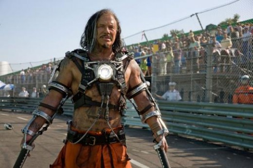 Mickey Rourke as Whiplash in Iron Man 2