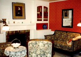 Upstairs parlor between Lillie's and Freddie's bedrooms.