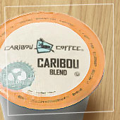 """Caribou Coffee K cup - """"a thing of beauty is a joy forever"""""""
