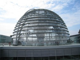 The dome at the top of the Reichstag