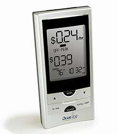 Blue Line PowerCost Monitor and Energy Meter II   image credit: SmartHome.com