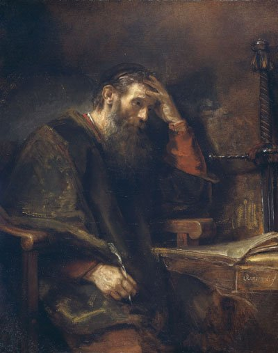 PAUL THE APOSTLE AS PAINTED BY REMBRANDT IN 1657