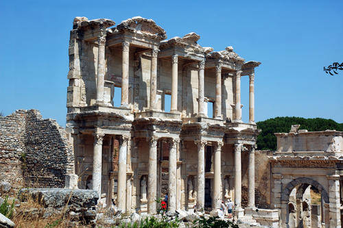 RUINS OF EPHESUS WHERE TIMOTHY RECEIVED PASTORAL EPISTLE FROM PAUL THE APOSTLE