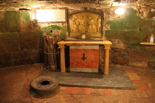 MAMERTINE PRISON IN ROME WHERE PAUL THE APOSTLE WROTE PASTORAL EPISTLE 2 TIMOTHY