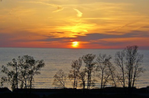 One of the great sunsets you will see at Lake Michigan. This is from a dune about 200 feet up above the main beach.