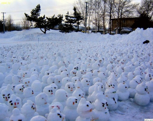 ...meanwhile thousands gather to protest about Global Warming...