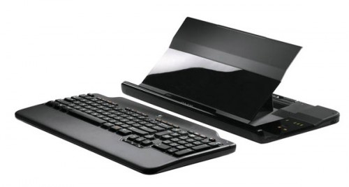 Logitech Alto Notebook stand with keyboard