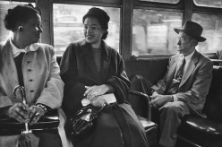 """Mrs. Rosa Parks """"On the Bus Again After Boycott"""""""