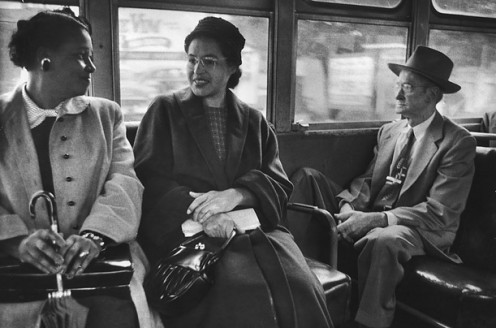 "Mrs. Rosa Parks ""On the Bus Again After Boycott"""