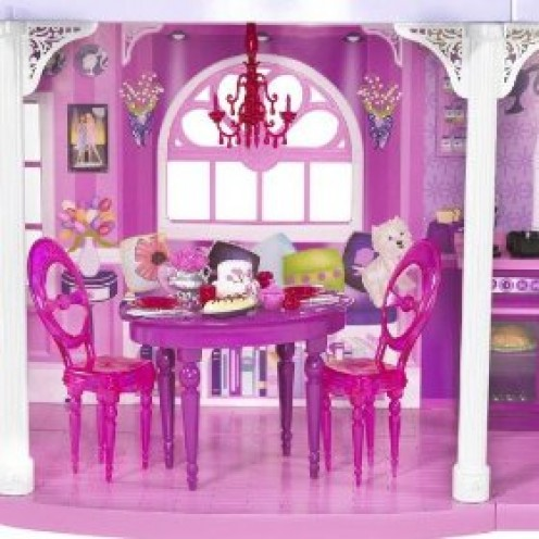 Barby's living room where she has dinner parties