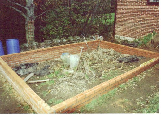 Brick Wall Raised Garden Beds: Building Brick Built Walls Of The Outer Shell.