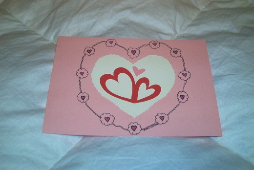 VALENTINE CUT OUT, PLUS A LIL' ART!