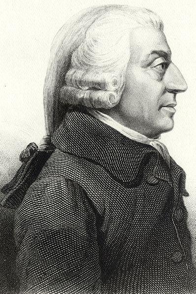 Adam Smith the Father of Modern Economics (public domain image courtesy of WikiPedia.org  http://en.wikipedia.org/wiki/File:AdamSmith.jpg  )