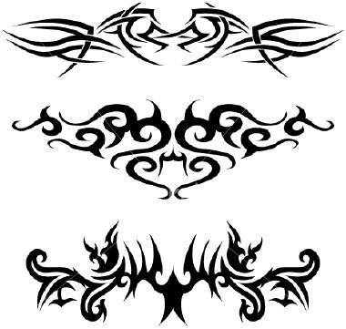 Tribal tattoo art.    Image taken from http://www.jokertattoo.net copyright 2010.