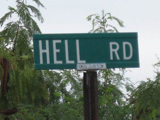 Hell Road, Grand Cayman Island