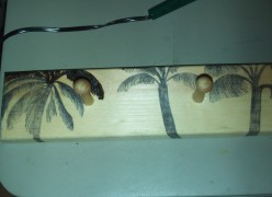 Craft Idea: Woodburning Palm Trees On A Jewelry Rack