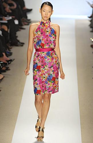 Korean Model Han Jin - Florals