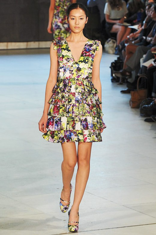 Chinese Model Liu Wen - Florals