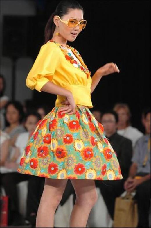 Asian Model - Floral