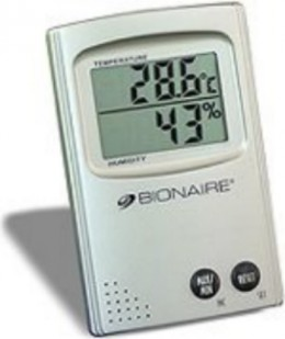 I own a hygrometer like this one. It makes knowing humidity levels a simple task.