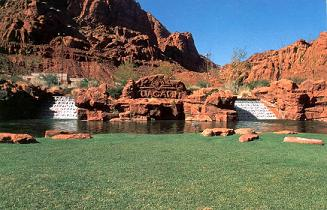 Red Cliffs of St. George, Tuacahn outdoor amphitheatre.