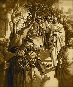 In Jericho there was a tax collector of short stature named Zacchaeus.  Crowds were surrounding Jesus, but Zacchaeus was so drawn to him & so anxious to see him that he climbed a sycamore-fig tree.