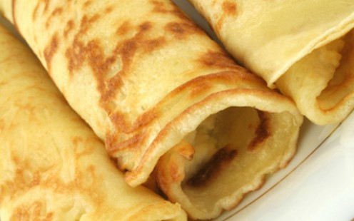 Filled and rolled pancakes