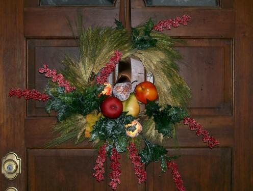 Even the wreathe looks sad