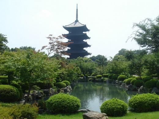 Toji Pagoda in Kyoto