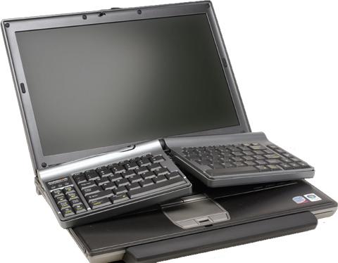 Goldtouch travel ergo economic keyboard for laptops