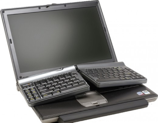 Goldtouch travel ergo economic keyboard for laptops
