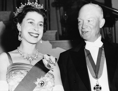 Queen Elizabeth with Dwight D. Eisenhower