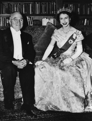 Queen Elizabeth with Harry S. Truman