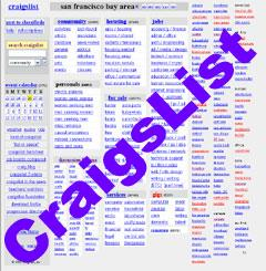 Craigslist Advertising.      Image taken from http://www.weboptimizationseo.com copyright 2010.