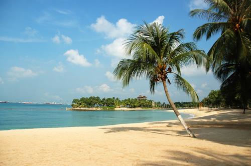Sentosa white beach