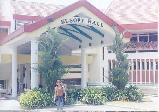 me at Eusoff Hall, National University of Singapore