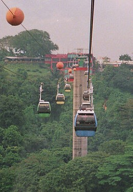 cable car going to SENTOSA