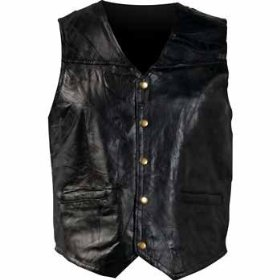 Mosaic Leather Biker Vest